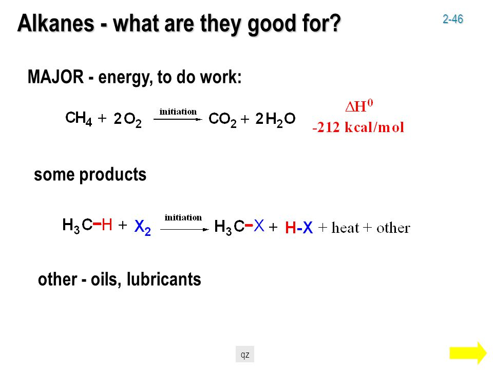 2-46 Alkanes - what are they good for.