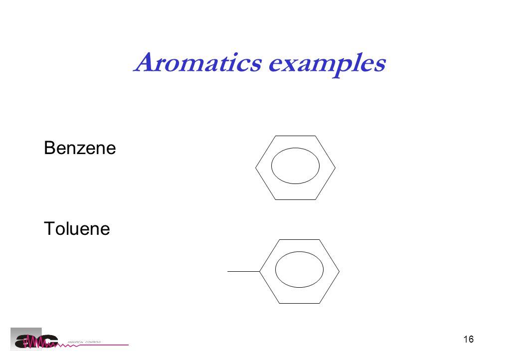 16 Aromatics examples Benzene Toluene