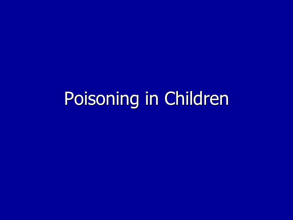 Poisoning in Children