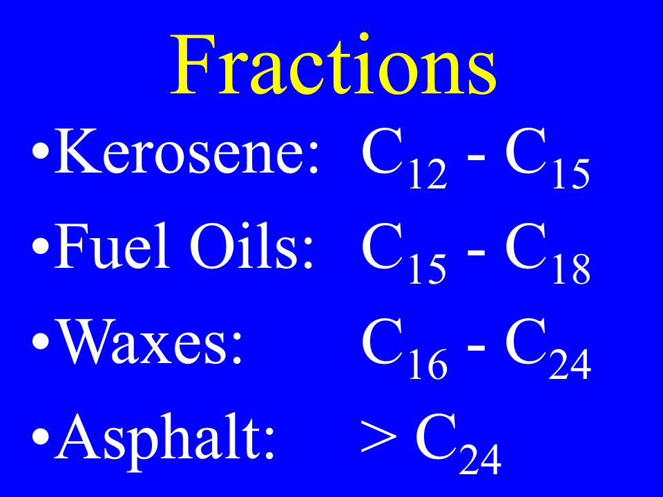 Properties Hydrocarbons are non-polar molecules All are flammable