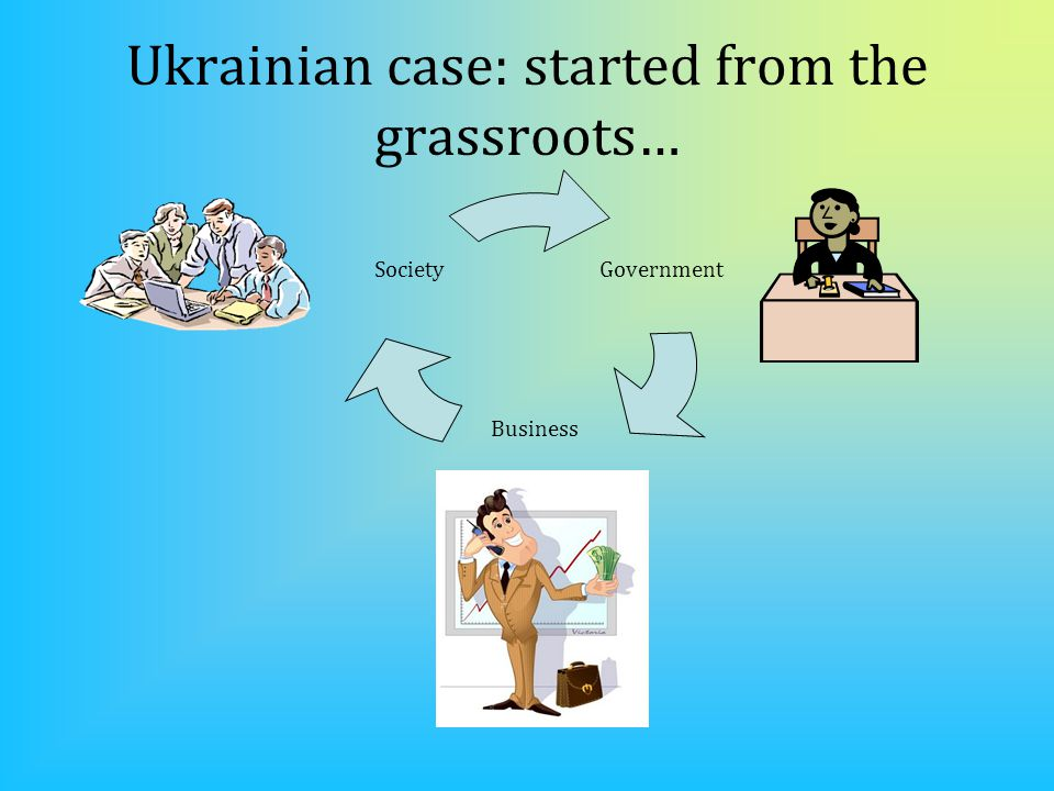 Ukrainian case: started from the grassroots… Government Business Society
