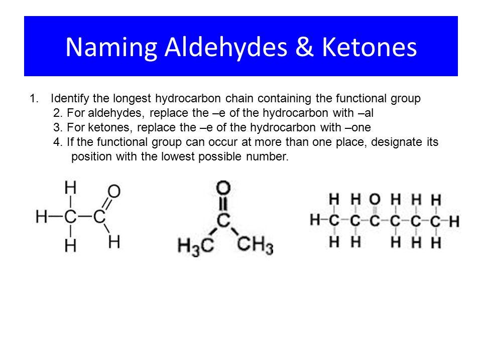 Naming Aldehydes & Ketones 1.