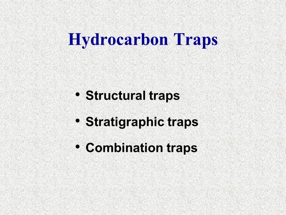 Hydrocarbon Traps Structural traps Stratigraphic traps Combination traps