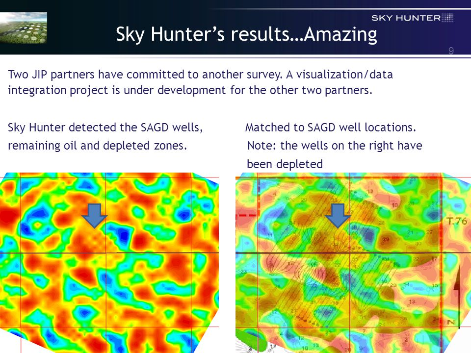 9 Sky Hunter's results…Amazing Two JIP partners have committed to another survey.