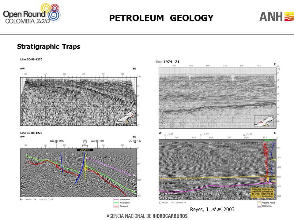 PETROLEUM GEOLOGY Stratigraphic Traps Reyes, J. et al. 2003 Line 1974 - 21