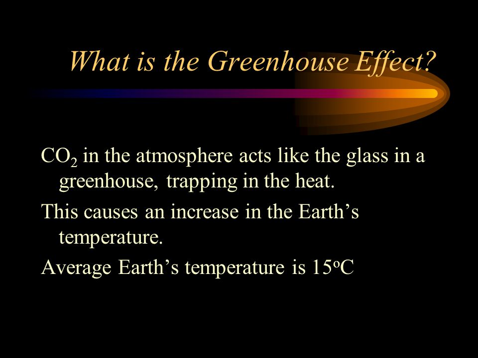 What is the Greenhouse Effect.
