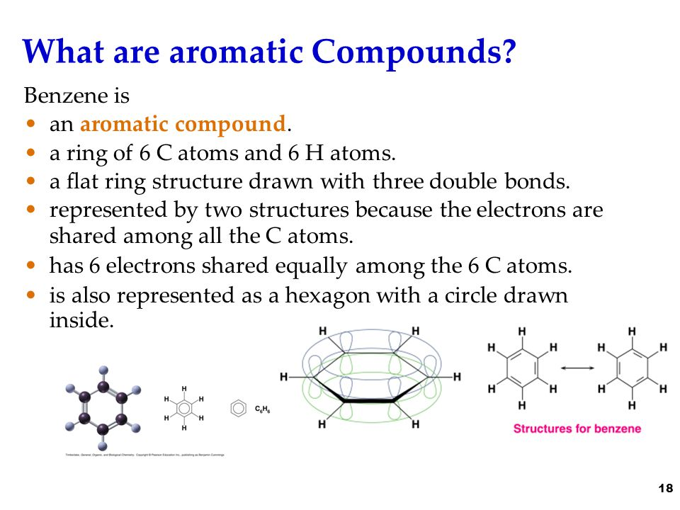 What are aromatic Compounds. Benzene is an aromatic compound.