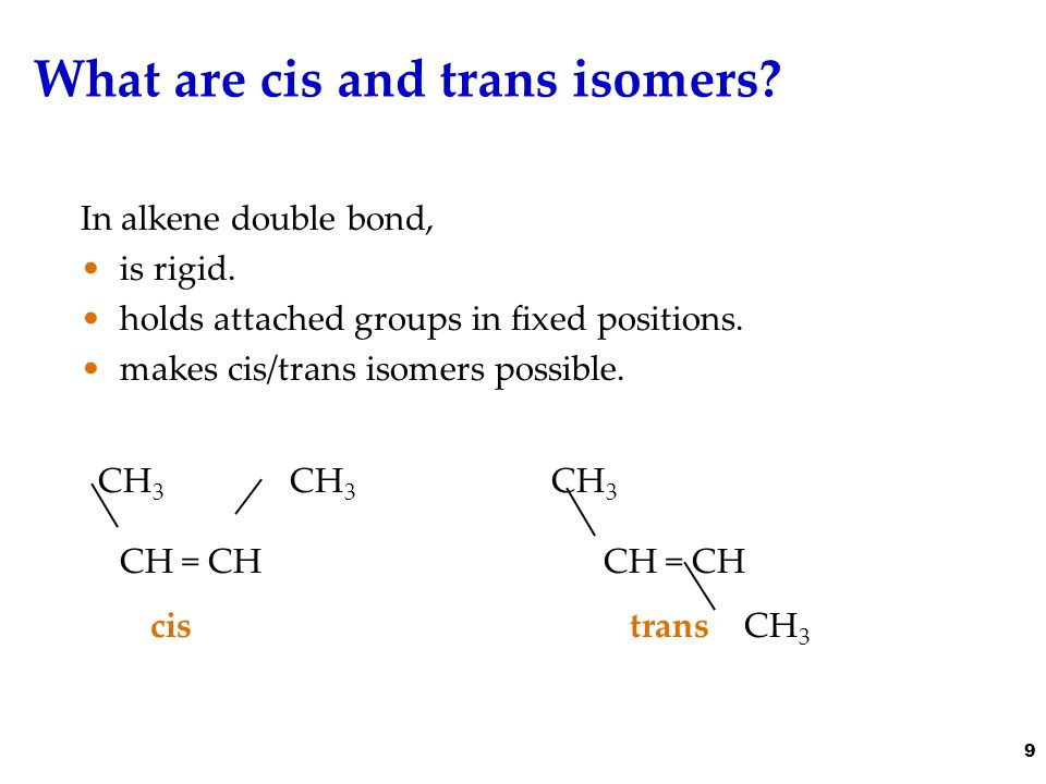 Possible cis-trans isomers .