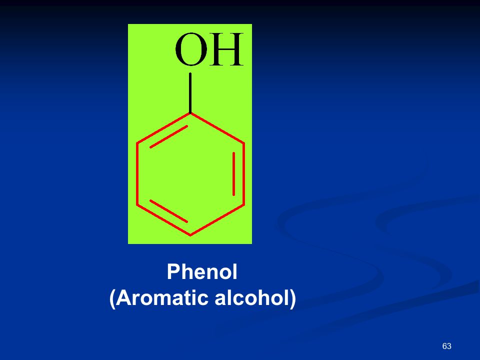 63 Phenol (Aromatic alcohol)