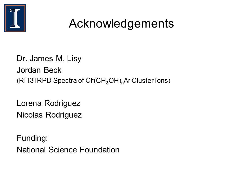 Acknowledgements Dr. James M.