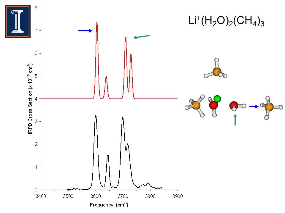 Li + (H 2 O) 2 (CH 4 ) 3