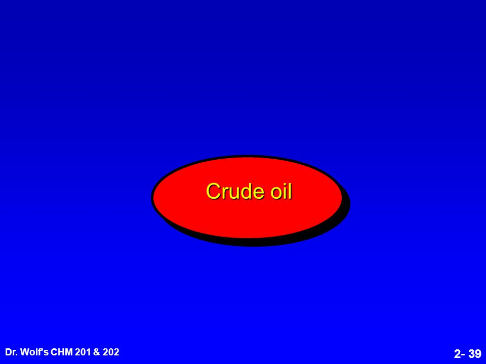Dr. Wolf's CHM 201 & 202 2- 39 Crude oil