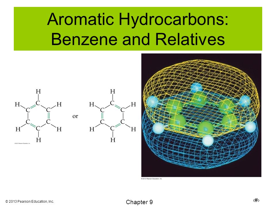 19 Chapter 9 © 2013 Pearson Education, Inc. Aromatic Hydrocarbons: Benzene and Relatives