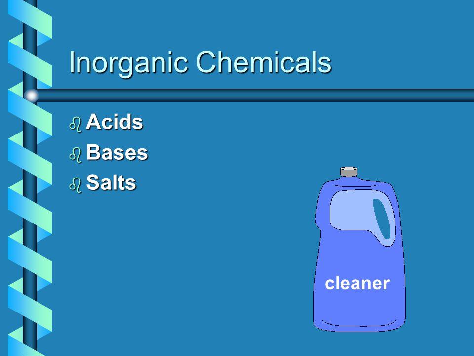 Inorganic Chemicals b Acids b Bases b Salts cleaner
