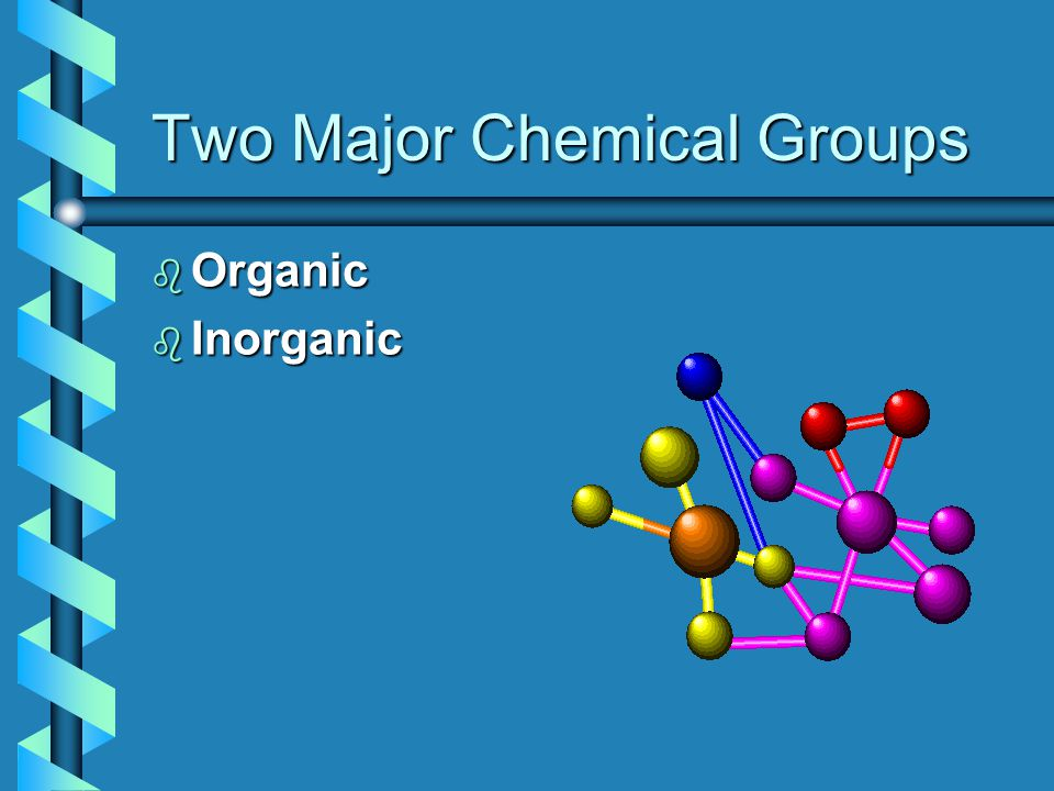 Two Major Chemical Groups b Organic b Inorganic
