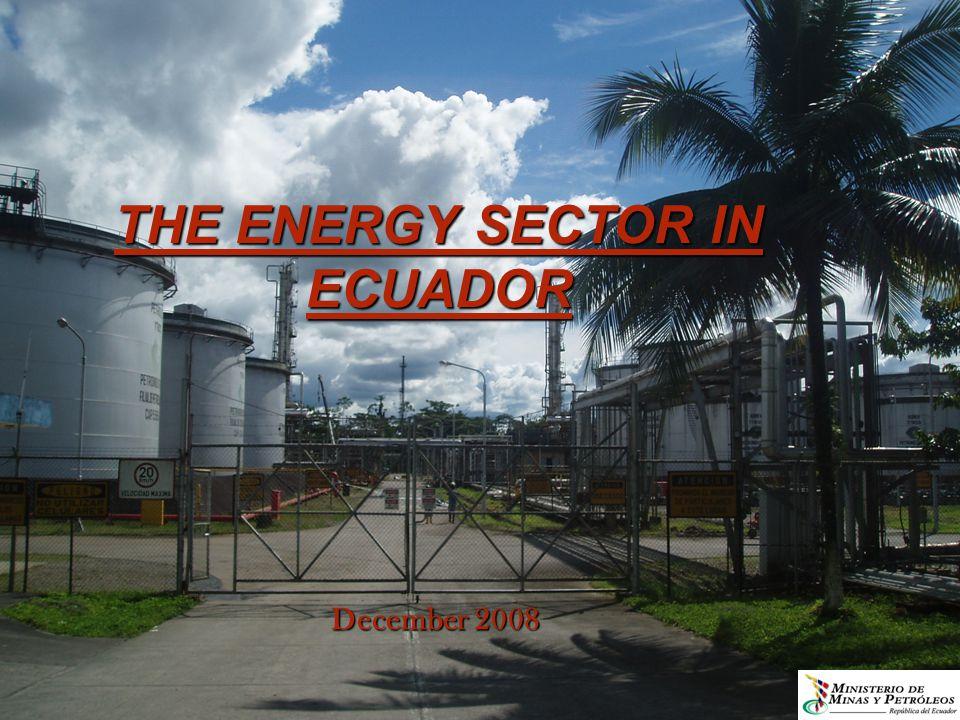 THE ENERGY SECTOR IN ECUADOR December 2008