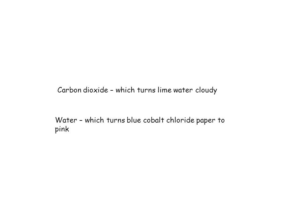 Copy and complete this paragraph in your jotter :- The two products of combustion are _________ and __________ ___________.