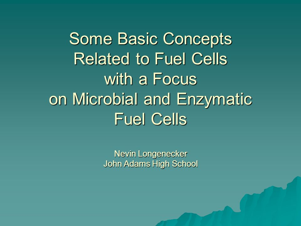 The PURPOSES of this investigation were to  examine and evaluate variables associated with increasing the efficiency of a microbial fuel cell.