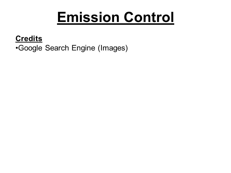 Emission Control Credits Google Search Engine (Images)