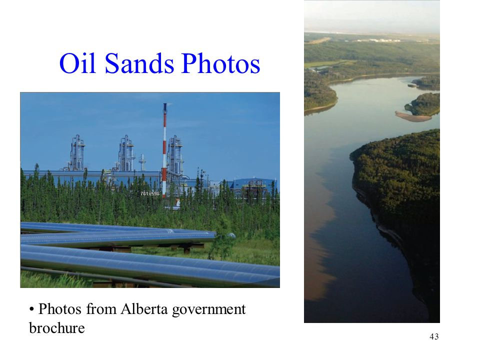 Oil Sands Photos 43 Photos from Alberta government brochure