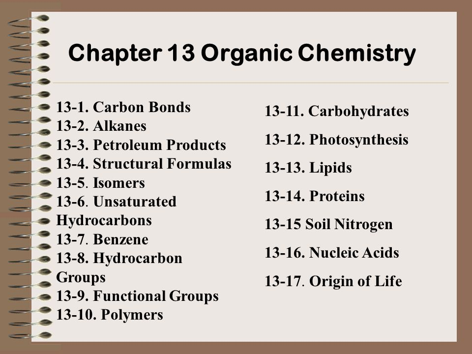 Organic chemistry is the chemistry of carbon compounds; inorganic chemistry is the chemistry of compounds of all elements other than carbon.