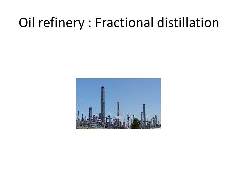 Oil refinery : Fractional distillation