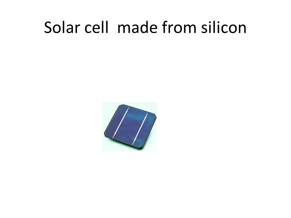 Solar cell made from silicon