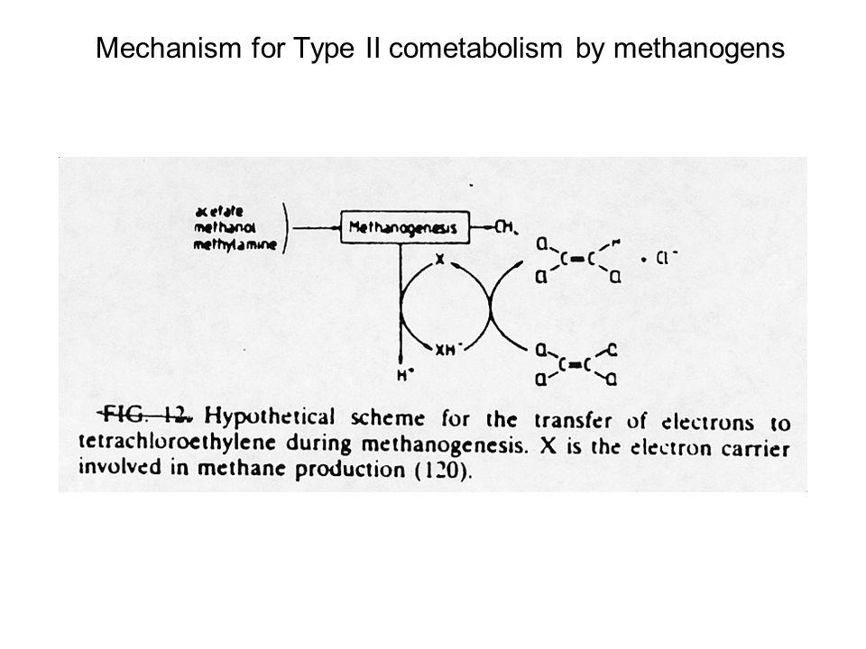Mechanism for Type II cometabolism by methanogens