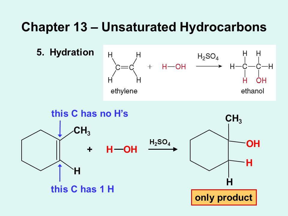Chapter 13 – Unsaturated Hydrocarbons 5.
