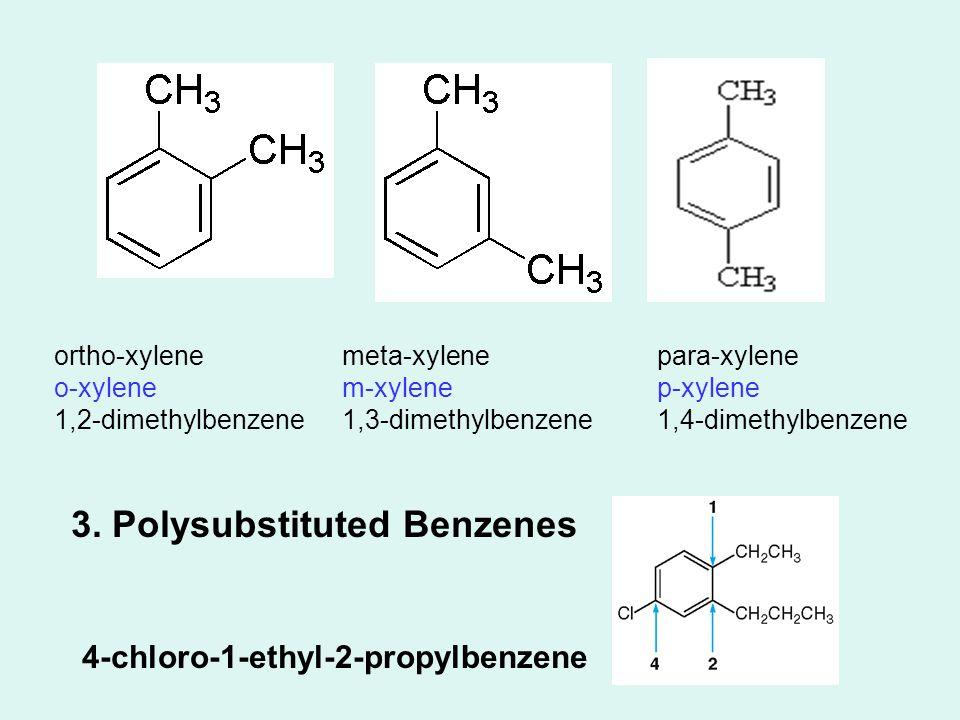 ortho-xylene o-xylene 1,2-dimethylbenzene meta-xylene m-xylene 1,3-dimethylbenzene para-xylene p-xylene 1,4-dimethylbenzene 3.