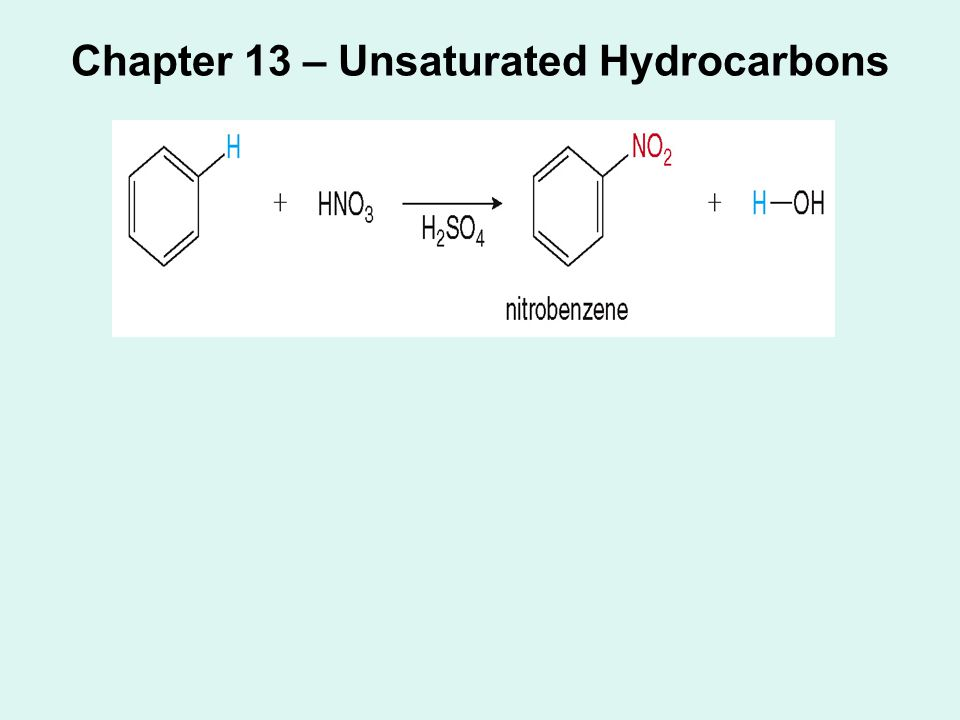 Chapter 13 – Unsaturated Hydrocarbons
