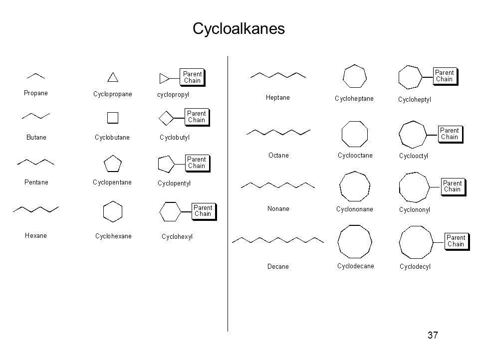 37 Cycloalkanes
