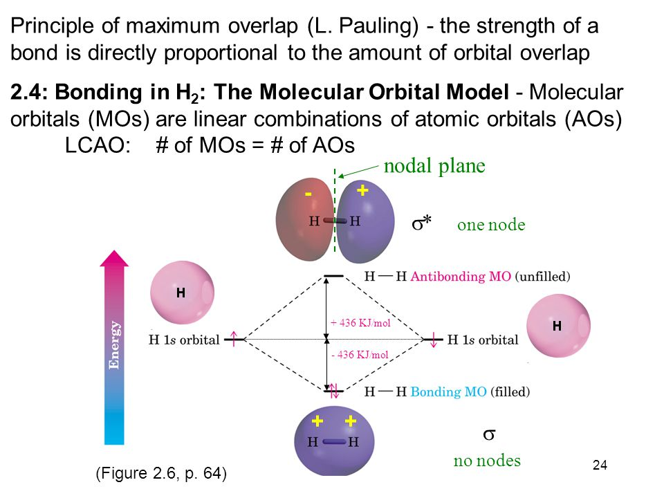 24 Principle of maximum overlap (L.