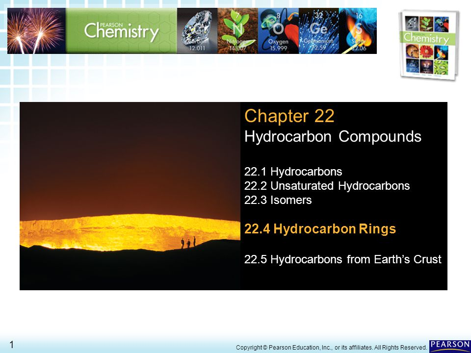 22.4 Hydrocarbon Rings> 1 Copyright © Pearson Education, Inc., or its affiliates.