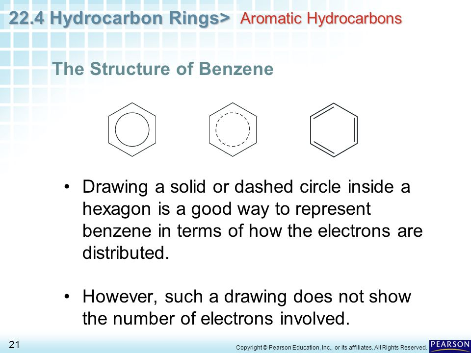 22.4 Hydrocarbon Rings> 21 Copyright © Pearson Education, Inc., or its affiliates.