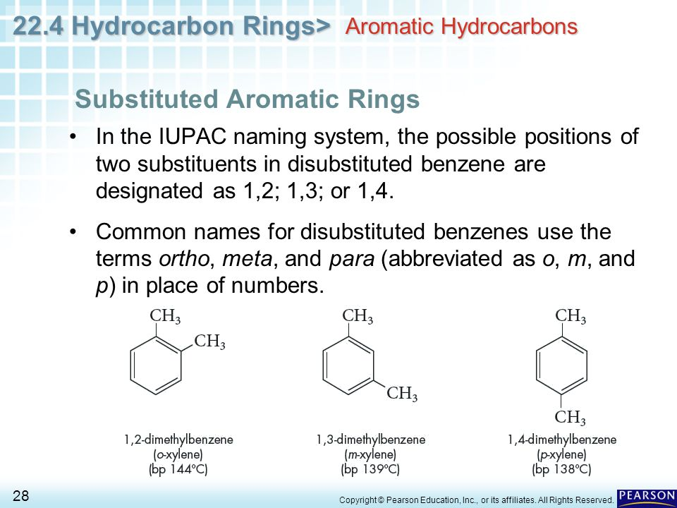 22.4 Hydrocarbon Rings> 28 Copyright © Pearson Education, Inc., or its affiliates.