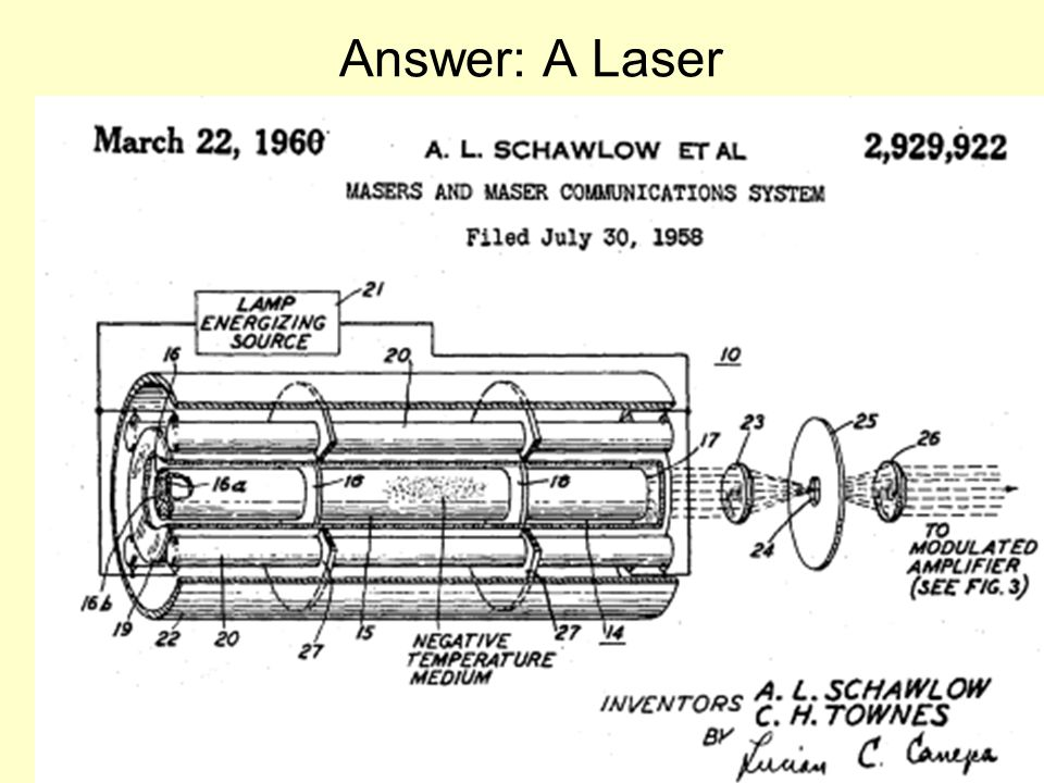 Answer: A Laser