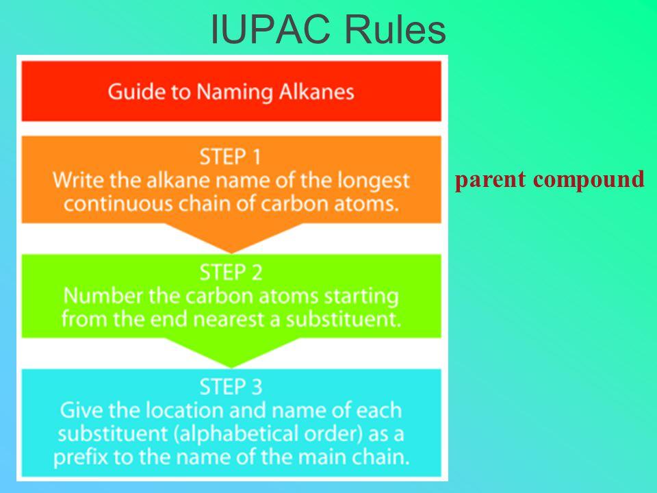 IUPAC Rules parent compound