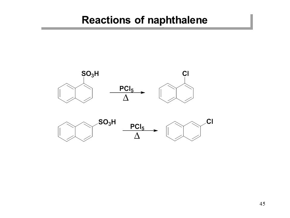45 Reactions of naphthalene