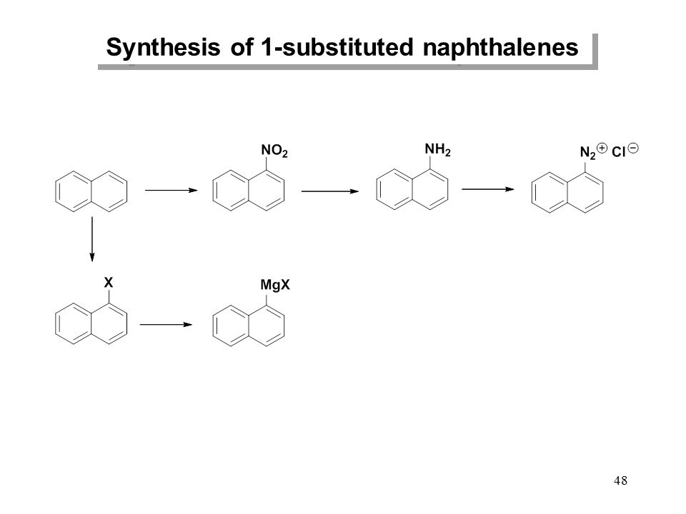 48 Synthesis of 1-substituted naphthalenes