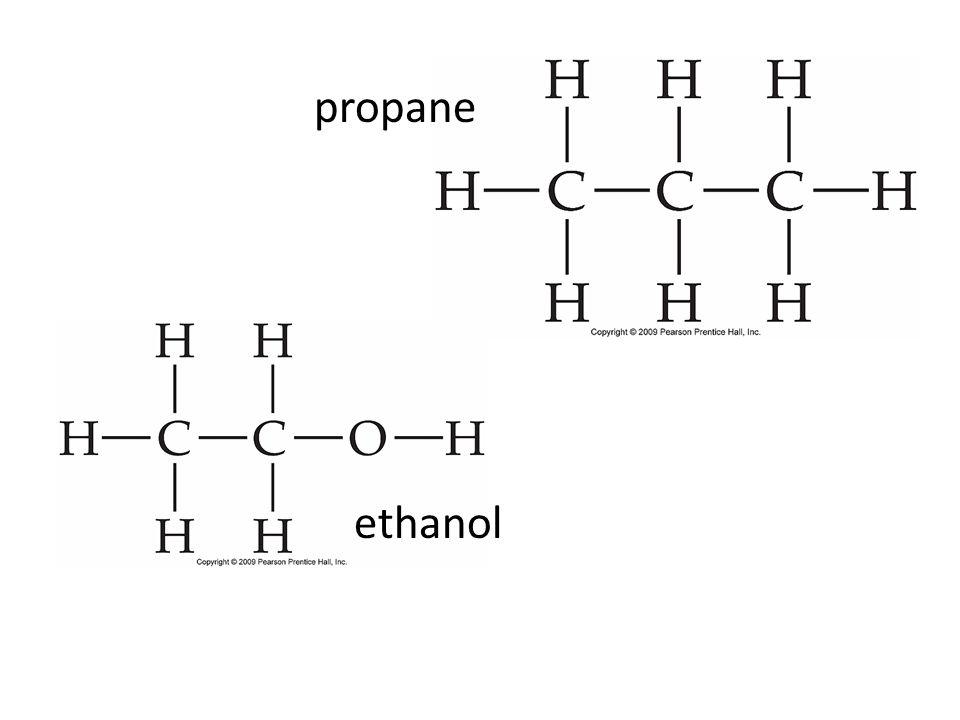ethanol propane