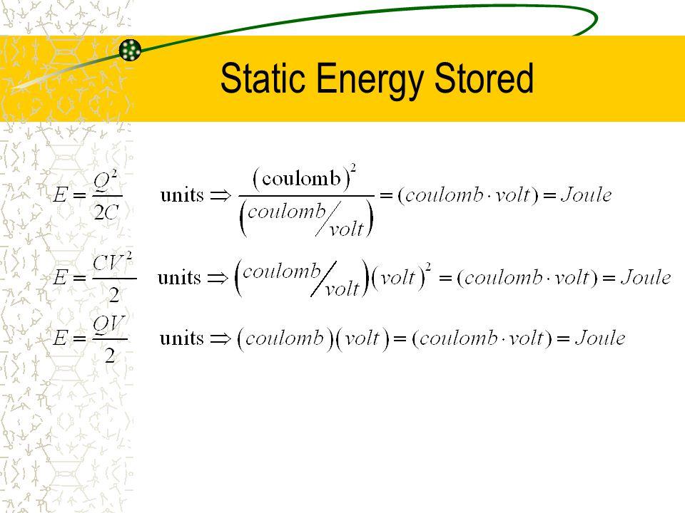 Static Energy Stored