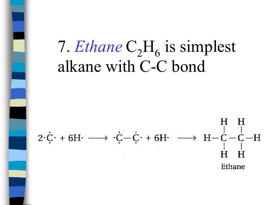 7.IUPAC rules for naming: Find longest continuous chain of carbons.