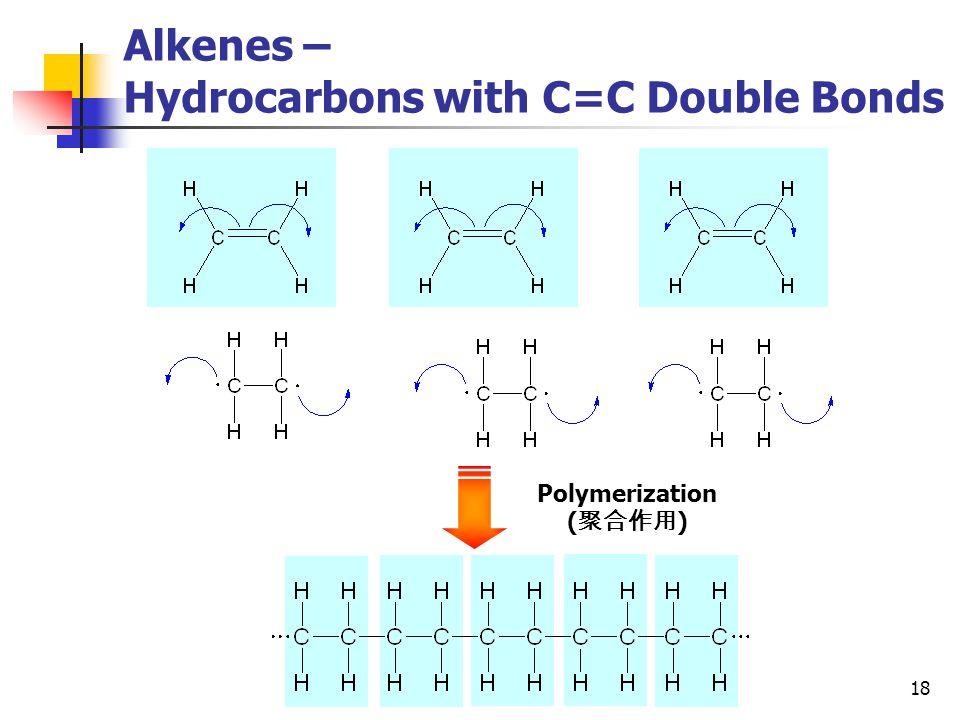 18 Alkenes – Hydrocarbons with C=C Double Bonds Polymerization ( 聚合作用 )