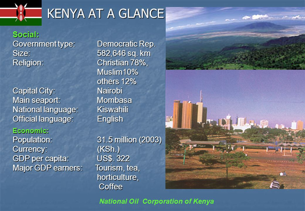National Oil Corporation of Kenya STRUCTURAL SETTING