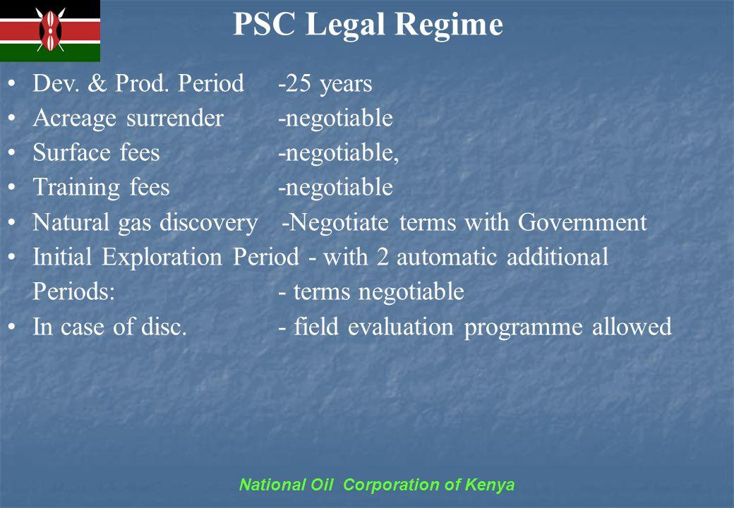 National Oil Corporation of Kenya PSC Legal Regime Dev.