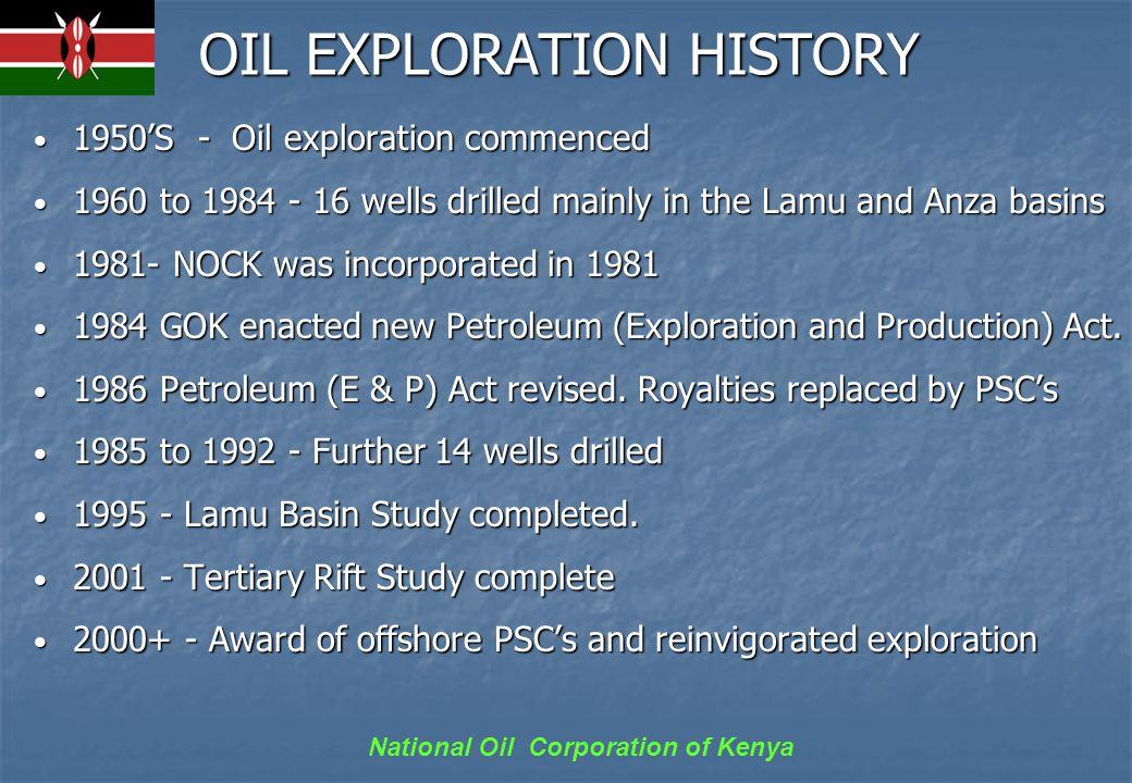 National Oil Corporation of Kenya LAMU BASIN Lies both onshore & offshore.