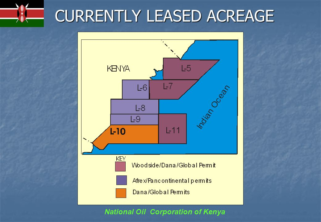 National Oil Corporation of Kenya CURRENTLY LEASED ACREAGE