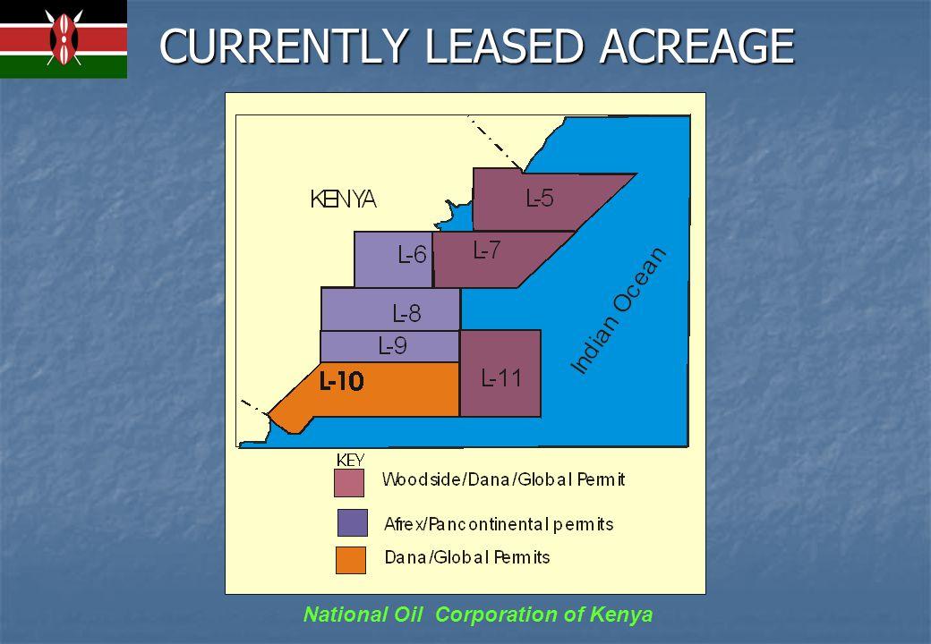 National Oil Corporation of Kenya EXPLORATION DRILLING Anza Basin – 10 Wells Tertiary Rift Basin –2 wells Mandera Basin – 2 wells Lamu Basin – 16 wells