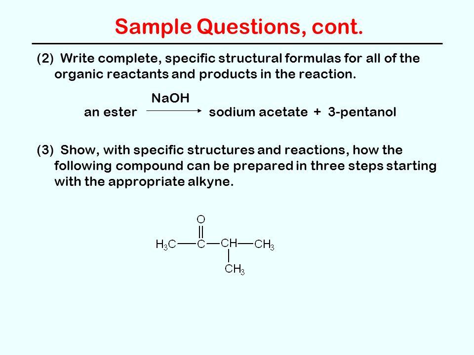 Sample Questions, cont.